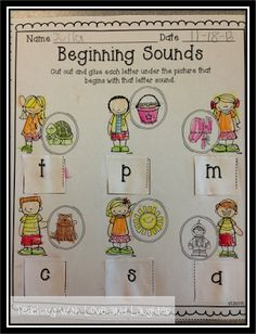 Kindergarten Literacy Activities