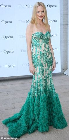 9-23-13. Heather Graham wowed at the opening night performance of Tchaikovsky's Eugene Onegin at The Metropolitan Opera House in New York on Monday
