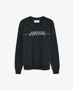 Image 8 of SWEATSHIRT WITH TEXT from Zara