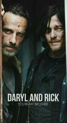 Rick and Daryl Daryl Twd, Daryl And Rick, Daryl Dixon Walking Dead, Walking Dead Zombies, Rick Y, Fear The Walking Dead, The Walking Dead Tumblr, Walking Dead Coral, Walking Dead Quotes