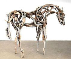 Deborah Butterfield's equestrian sculptures would look stunning in a garden.