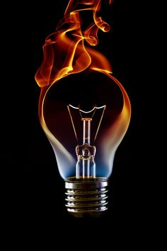 abstract fire in light bulb - Google Search