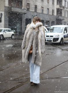 Seeking shelter from the storm in the sincerest form of luxury at #MFW @Lee Oliveira at it again.
