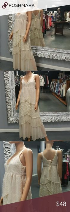 "🌻RYU Boho Wedding/ Flower Power Dress Simple enough to wear anywhere but elegant enough to say ""I DO"". Imagine a head dress made of flowers and bare feet. Stunning.   Why SHOP MY Closet? 💋Most NWT or Worn Once 💋Smoke/ Pet Free 💋OVER 750 🌟🌟🌟🌟🌟RATINGS & RISING! 💋TOP 10% Seller  💋TOP RATED 💋 FAST SHIPPER   💋BUNDLES 20% OFF 💋EARN VIP $$$- SPEND ANYTIME  💋QUESTIONS?? PLEASE ASK! ❤HAPPY POSHING!!! 💕 Ryu Dresses Wedding"