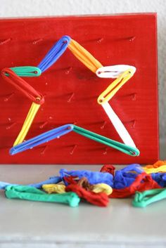 Great idea for geoboards instead of using rubber bands.