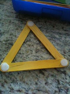 Craft sticks with velcro - a great way to make 2D shapes, angles etc