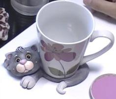 Biscuit Passo a Passo: Descanso de caneca gatinho em biscuit …                                                                                                                                                                                 Mais