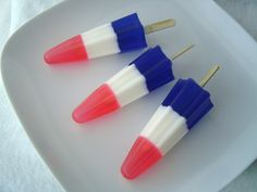 red white blue soapsicles 003 by KcSoapsNmore, via Flickr blue: day 9 by jessica wilson {jek in the box}, via Flickr #RedWhiteBlue #Seethe4th