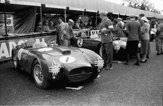 The Lancia team at the 1954 Tourist Trophy Race.