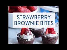 """These tasty little bites come together in a snap, with just 3 steps! Enjoy strawberry brownie bites with a warm, cozy beverage for a little bit of """"me time""""."""