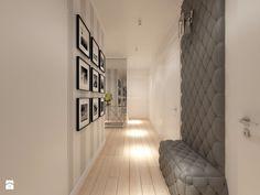 Z nutą turkusu - Średni hol / przedpokój, styl klasyczny - zdjęcie od LIVING BOX Entry Hallway, Entryway, Bathroom Interior Design, Modern Interior, Apartment Entrance, Other Rooms, Home Fashion, Mudroom, Sweet Home