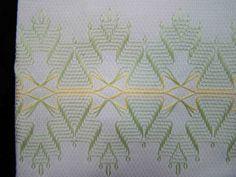 Swedish Weaving Huck Weaving Embellished Tea by FuzzyDuckCreations