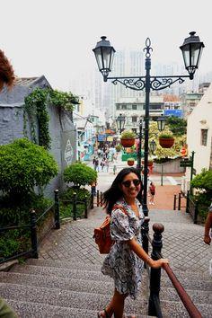Heading to Cunha Street, Taipa, Macau