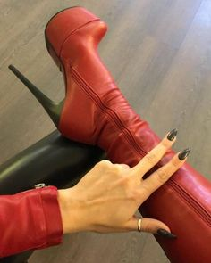 Thigh High Boots, High Heel Boots, Over The Knee Boots, Heeled Boots, Shoe Boots, High Leather Boots, Stiletto Boots, Hot High Heels, Red Boots