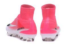 3b5a5535cb1 Nike Mercurial Superfly V FG Soccer Cleats Pink-White