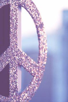 Peace sign glitter sparkle and shine Purple Love, All Things Purple, Purple Lilac, Fuchsia, Shades Of Purple, Purple Baby, Purple Glitter, Periwinkle, Peace Love Happiness
