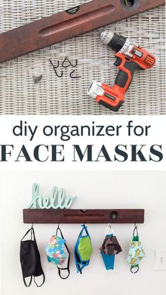 This face mask organizer has been a huge problem-solver for us. Our family needed some way to organize and store our face masks so that is was easier to grab a clean mask on our way out the door. This simple DIY mask organizer is inexpensive and easy to make and helps make it super easy for each family member to grab one of their own masks on the way out the door. Diy Mask, Diy Face Mask, Face Masks, Diy Home Decor On A Budget, Decorating On A Budget, Simple Diy, Easy Diy, Furniture Makeover, Diy Furniture