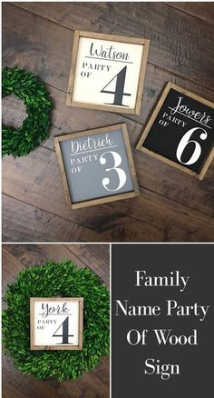 These Party Of signs are so cute! #affiliate #homedecor #rustic #farmhouse #walldecor