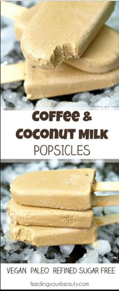 food court: COFFEE AND COCONUT MILK POPSICLES