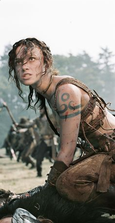 Keira Knightley as Guinevere the Pict warrior.