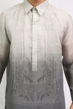Cute for the boys at a blue and silver themed wedding Blue And Silver, Blue Grey, Gray, Barong Wedding, Barong Tagalog, Our Wedding, Wedding Ideas, Filipiniana, Couple Stuff