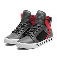 SUPRA SKYTOP | GREY / RED | Official SUPRA Footwear Site