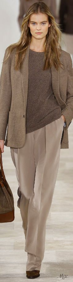 Fall 2016 Ready-to-Wear Ralph Lauren women fashion outfit clothing style apparel @roressclothes closet ideas