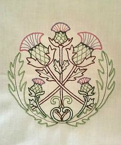 Vintage Scottish Thistle Tarot/Altar Cloth by ToadWerks on Etsy