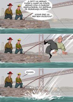 Cartoon: Pesca Grossa - Ironia d'Estado