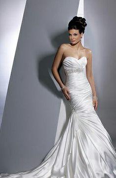 Bridal Gowns: Maggie Sottero Mermaid Wedding Dress with Strapless Neckline and Natural Waist Waistline