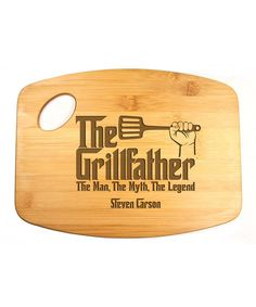 'Grillfather' Personalized Bamboo Cutting Board
