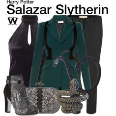 Inspired by Hogwarts house founder Salazar Slytherin from the Harry Potter franchise.