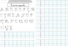 Repasser-et-former-les-majuscules. Handwriting, Kids Learning, Homeschool, Bullet Journal, Classroom, Lettering, Teaching, Education, Words