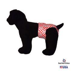 Pink Checker Washable Dog Diaper