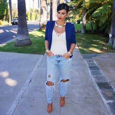 #ShareIG #CasualChic #ootd  Jeans @Zarausa Top @Forever21 Blazer @Forever21 Shoes @lolashoetiquedolls