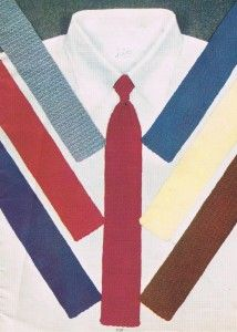 Vintage Crafts and More - Fathers Day Gift Crochet Tie Pattern
