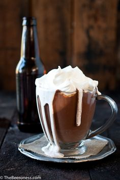 Stout Hot Chocolate. It's boozy cocoa. Magical and dangerous.