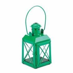 Green Railway Candle Lantern Lamp
