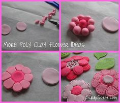 cool clay flowers...my daughter wants to try making these