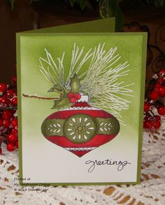 Wacky Watercooler Blog Hop - Ornamental Pine and Christmas Bauble, Stampin' Up! @ My Tanglewood Cottage