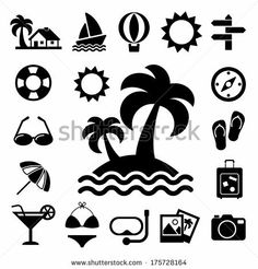 Travel and vacation Icons set .Illustration eps10 by kanate, via Shutterstock