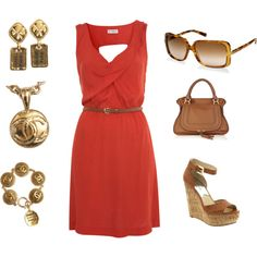 love the coral and gold ... starting to be my new favorite color combo