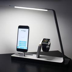 NuDock // Power Lamp Station + NuKi Portable Battery (Silver)