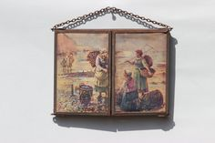 French Vintage Trifold Travel Mirror. Shaving by LePasseRecompose