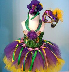 98d063327 Festive Mardi Gras Outfit for the BOLD Party Animal! FestiviTeez.com Tutu