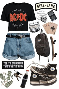 girl Outfit - girl The Effective Pictures We Offer You About hipster outfits A quality picture can tell you many things. Skater Girl Outfits, Tomboy Outfits, Teenager Outfits, Teen Fashion Outfits, Grunge Outfits, Cute Casual Outfits, Look Fashion, Rock Outfits, Tomboy Fashion