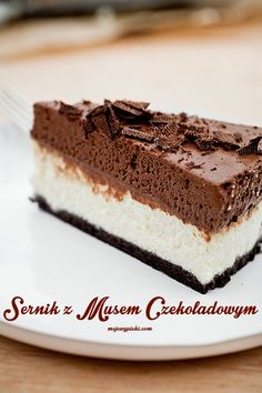 Types Of Desserts, No Bake Desserts, Sweet Recipes, Cake Recipes, Sweet Cooking, Polish Recipes, Love Cake, Chocolate Desserts, Sweet Treats