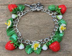 polymer clay pink handmade Foxglove bracelet Stunning summer bracelet
