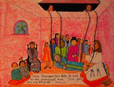 Jesus Heals the paralytic- printable craft.