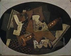 Clarinet, Guitar and Compotier - Georges Braque 1918